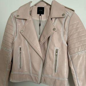 Baby Pink Joe's Jeans Moto Leather jacket